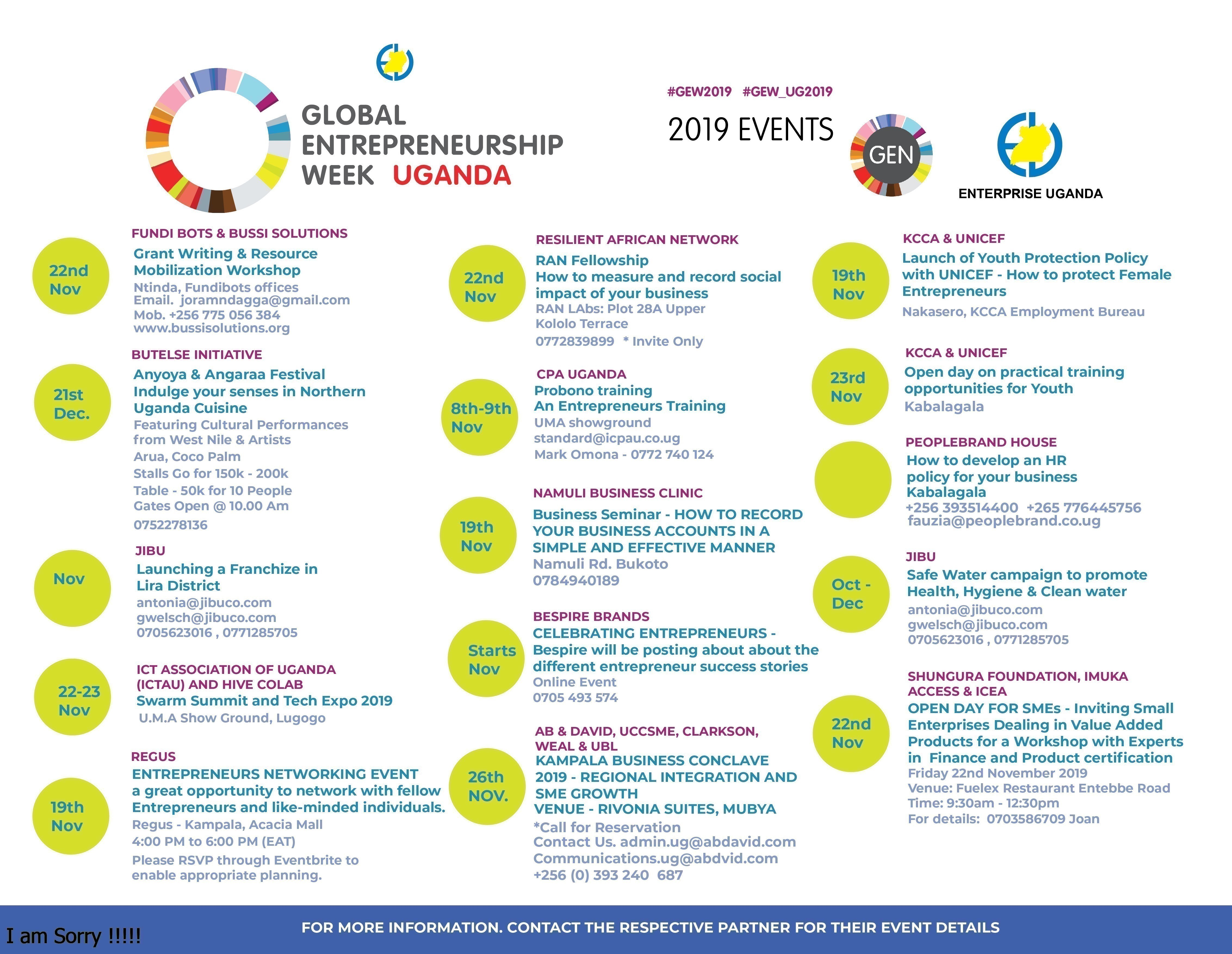 GEW 2019 EVENTS - UGANDA