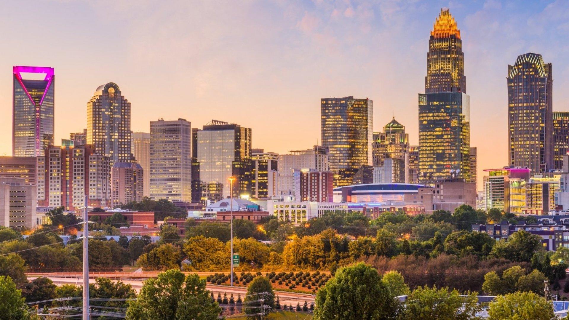 Downtown Charlotte, NC.